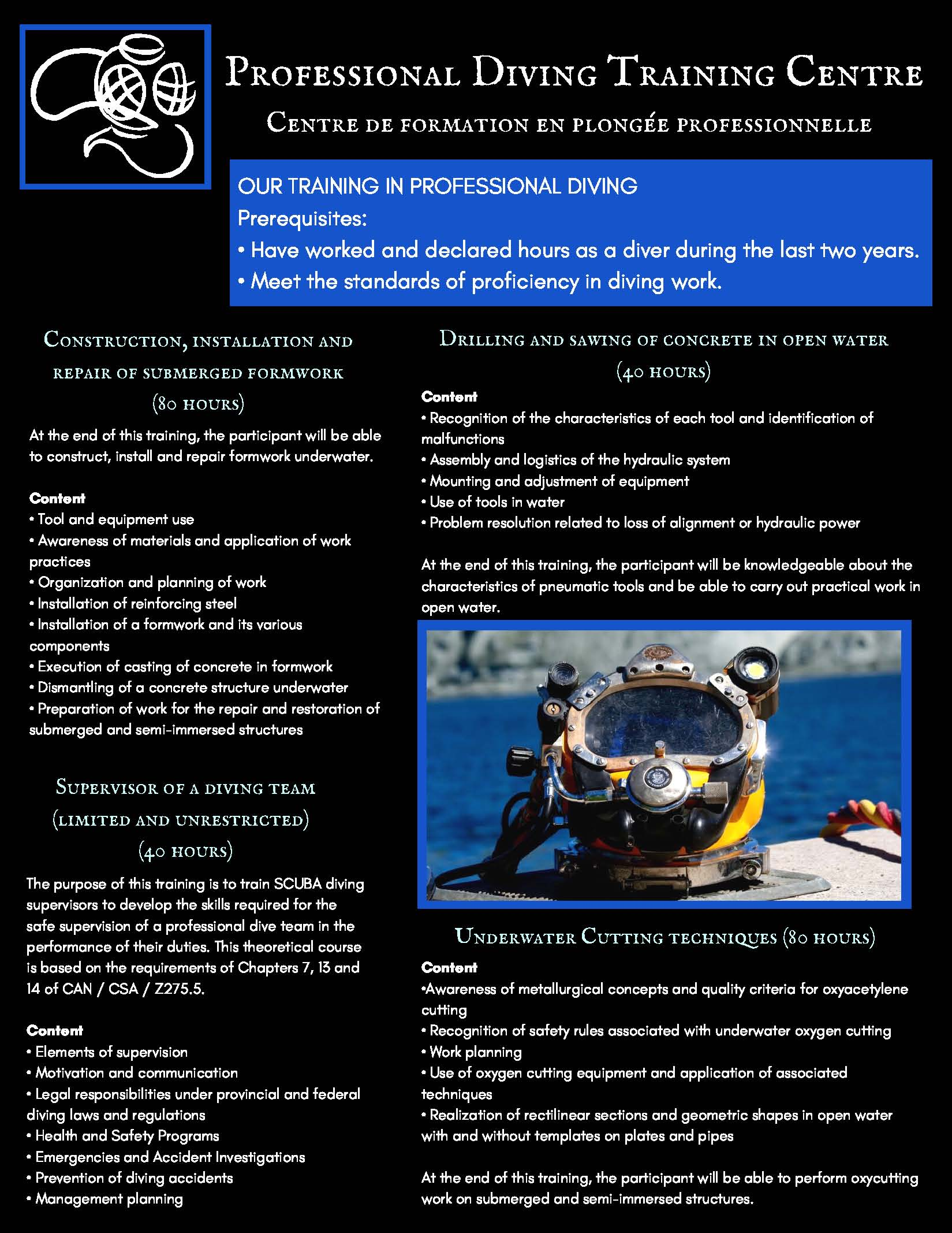 Professional Diving Training Center Centre de formation en plongée professionnelle 7 1 Page 1
